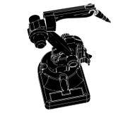 Robot de soudure noir illustration de vecteur