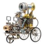 Robot de Steampunk sur le véhicule Photo stock