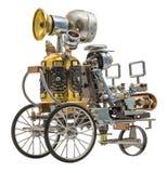 Robot de Steampunk sur le véhicule Photos stock