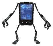 Robot de téléphone Images stock