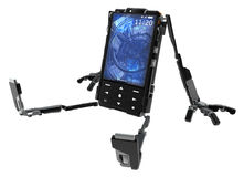 Robot de téléphone, se reposant Image stock