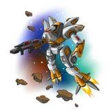 Robot de vol de l'espace Photo libre de droits