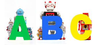 Robot del ABC Fotografía de archivo