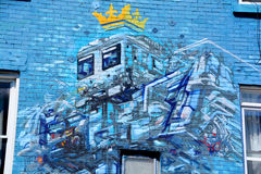 Robot del arte de la calle Foto de archivo