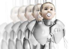 Robot del bambino, creante i cloni Fotografia Stock Libera da Diritti