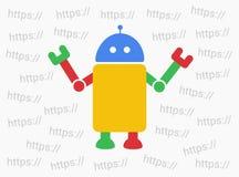 Robot del Bot y del web Fotos de archivo libres de regalías