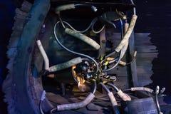 Robot del calamar gigante Imagenes de archivo