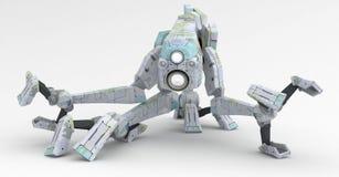 Robot del camminatore, diffusione bassa Immagine Stock Libera da Diritti