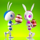 Robot del coniglietto di pasqua Fotografia Stock