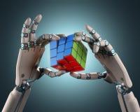 Robot del cubo Fotografía de archivo libre de regalías