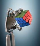 Robot del cubo Fotografie Stock