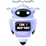 Robot del FAQ de ChatBot Foto de archivo
