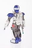 Robot del giocattolo su fondo bianco fotografie stock