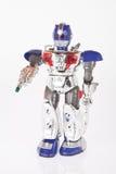 Robot del giocattolo su fondo bianco fotografie stock libere da diritti