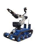 Robot del golpe violento Fotografía de archivo libre de regalías