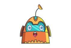Robot del hierro ilustración del vector