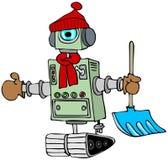 Robot del invierno stock de ilustración