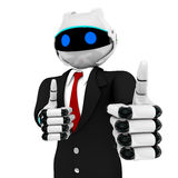 Robot del negocio Fotografía de archivo