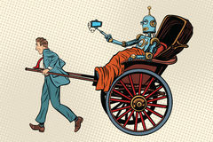 Robot del paseo del carrito de la gente libre illustration