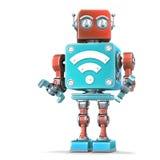 Robot del vintage con la muestra del Wi-Fi Concepto de la tecnología Isloated Contiene la trayectoria de recortes libre illustration