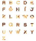 Robot del a-z del alfabeto, vector Imagenes de archivo