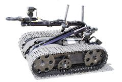 Robot della bomba Immagine Stock