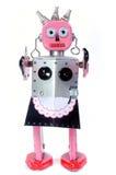 Robot della domestica del giocattolo Fotografie Stock Libere da Diritti