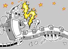 Robot 1 della fabbrica illustrazione vettoriale