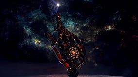 Robot della luna Immagini Stock