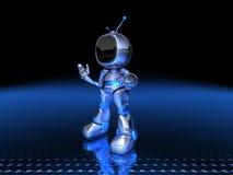 Robot della TV immagini stock libere da diritti