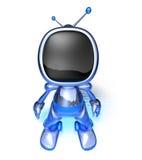 Robot della TV Fotografie Stock Libere da Diritti