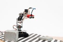 Robot delle mani con il sensore ultrasonico immagine stock libera da diritti