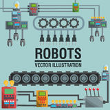 Robot design. industry concept. humanoid icon Royalty Free Stock Image