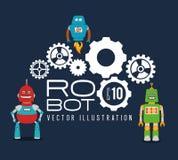 Robot design over blue background vector illustration Stock Image