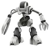 Robot design with weapon hands Royalty Free Stock Image