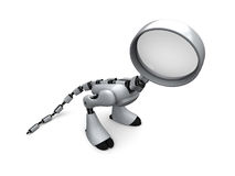 Robot Detective. On the white background Royalty Free Stock Photos