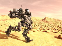 Robot di battaglia Fotografia Stock Libera da Diritti