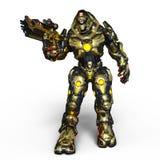 Robot di battaglia Immagine Stock