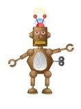 Robot di Brown Immagine Stock Libera da Diritti