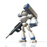 Robot di combattimento sulla fantascienza Fotografia Stock