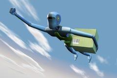Robot di consegna illustrazione di stock