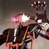 Robot die slechte kunstmatige intelligentie vertegenwoordigen royalty-vrije illustratie