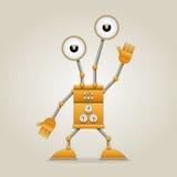 Robot divertente Fotografie Stock