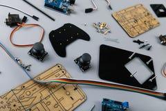 Robot diy assembly kit royalty free stock photo