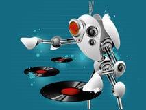 Robot dj Stock Image