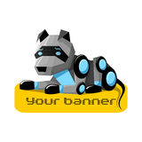 Robot Dog. Lying on an object Royalty Free Stock Photo