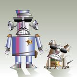 Robot and the dog Royalty Free Stock Image