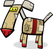 Robot dog cartoon illustration Royalty Free Stock Photography