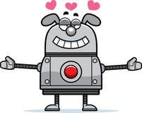 Robot Dog Hugging Stock Image