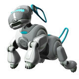 Robot Dog Jumping Stock Photo